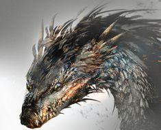 Dragon head by Magdalena Katańska