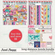 Long Distance Bonds Bundle by Jady Day Studio & Studio Basic Designs