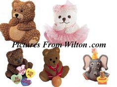 wilton 3d mini bear cake pan instructions