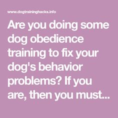 Are you doing some dog obedience training to fix your dog's behavior problems? If you are, then you must use hand signals in addition to verbal