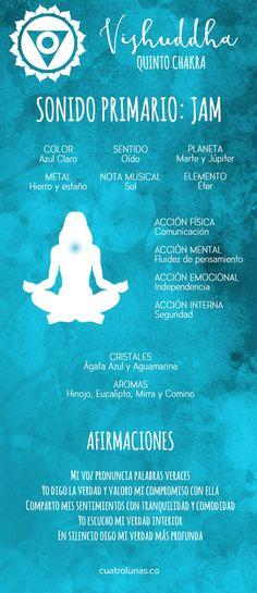 Esta es la quinta entrega de los artículos sobre la armonización de los siete chakras principales, y hoy veremos cómo armonizar el quinto de ellos que se conoce como Vishuddha o chakra de la gargan… Siete Chakras, Chakra System, Chakra Meditation, Kundalini Yoga, Chakra Healing, Tibet, Reiki, Ayurveda, Melissa Bender