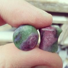 10mm mayanflared zoisite ruby plugs