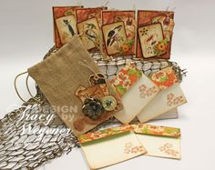 Tracy Wegener's Tropical Travelogue card gift set.  #Graphic45 Check this link out for 5 video tutorials.