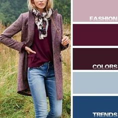 Trends Denim outfit – color of life Colour Combinations Fashion, Color Combinations For Clothes, Fashion Colours, Colorful Fashion, Color Combos, Look Fashion, Autumn Fashion, Fashion Outfits, Fashion Tips