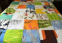 Handmade Marimekko Comforter Bedspread Quilt by PantsandPillows