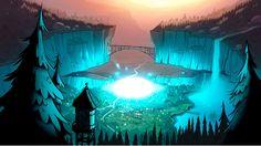 Mais artes do seriado Gravity Falls, do Disney Channel   THECAB - The Concept Art Blog