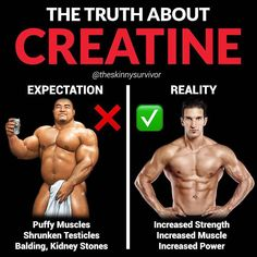 -Creatine is the most well-researched supplement in the world.-It's safe, and it works.-Many people think that it's a drug, but it's not. Your body naturally makes creatine and it also naturally occurs in your food (specifically meat). The recommended dos Fitness Workouts, Fitness Motivation, Ways To Increase Testosterone, Gym Workout Chart, Workout Routine For Men, Fitness Tips For Men, Creatine Monohydrate, Bodybuilding Supplements, Muscle Building Workouts