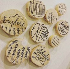 Wood Magnets by OriginalSite32Design on Etsy