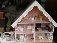 casinha de boneca miniatura