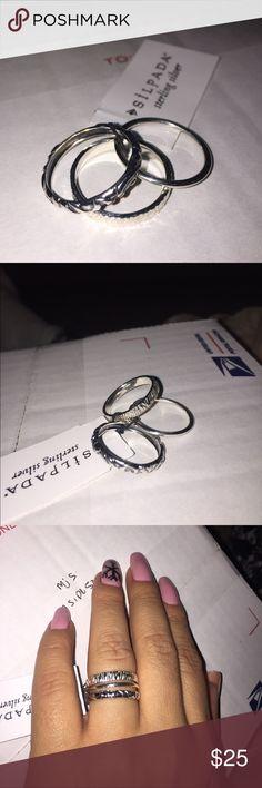 Silpada Ring Set Size 7 Silpada Ring Set Size 7 Silpada Jewelry Rings