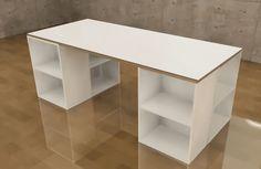 Home Crafts, Diy And Crafts, Colorbox, Work Desk, Diy Furniture, Playroom, Kids Room, Shelves, Interior Design