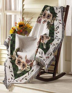 Sunflower Tapestry Throw Blanket