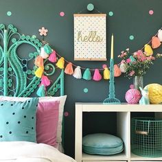 Interior for kids - Easy ways to inject colour into a child's interior space. Simple DIY ideas for teen and tween girls bedrooms. Interior for kids - Easy ways to inject colour into a child's interior space. Teenage Girl Bedrooms, Tween Girls, Tween Bedroom Ideas, Bedroom Kids, Kid Bedrooms, Kids Rooms, Warm Bedroom, Diy Room Decor For Girls, Girls Bedroom Colors