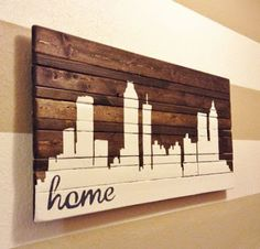 Pallet Art - #palletprojects --- #pallets ---- http://alittlebitofthisthatandeverything.blogspot.com/