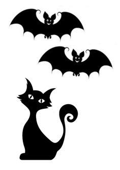 halloween - Page 2 Moldes Halloween, Adornos Halloween, Manualidades Halloween, Halloween Doodle, Halloween Painting, Halloween Drawings, Halloween Pictures, Happy Halloween, Halloween Black Cat