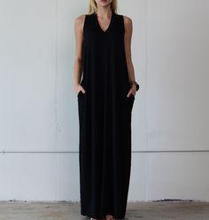 "V-Neck Maxi Dress - ""PREORDER"""