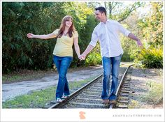Jacksonville Florida Engagement Photography, Jax FL, Engagement Portraits, Couple Photography, Engagement Photography, Engagement Photos, Zoo Engagement, Train Track Engagement, Jacksonville Zoo And Gardens