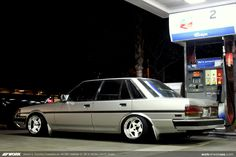 Kevin S. Toyota Cressida on WORK Meister S1 2P in White (WHT) Finish