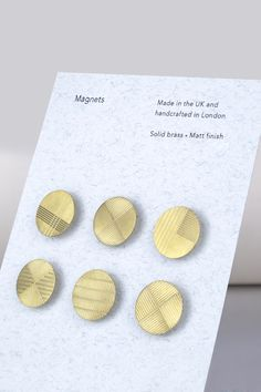 Super cool brass magnets by Alice Bosc.