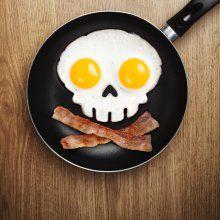 Spiegeleiform Totenkopf Funny Side Up Skull