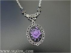 Purple Rose Gothic Cameo Necklace by SKAIOR Designs  http://www.skaior.com