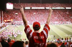 Welcome to the sea of red!  nebraska football by a.matzke, via Flickr