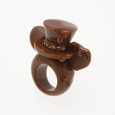 Q-pot.ONLINE SHOP |Mickey Mouse's Melt Ear Ring: リングQ-pot.ONLINE SHOP |