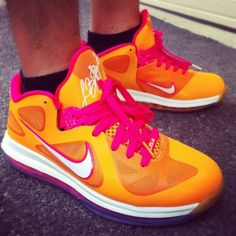 new product d96d0 dea44 More and More Cheap Shoes Sale Online,Welcome To Buy New Shoes 2013 Lebron 9  Low Floridians Vivid Orange Cherry 510811 Nike Basketball Shoes - Lebron 9  Low ...