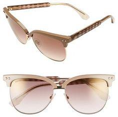 Jimmy Choo 'Aryaya' 57mm Retro Sunglasses #sunglasses #womens #summer