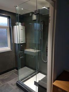 Beautiful 90 Degree Frameless Shower Doors