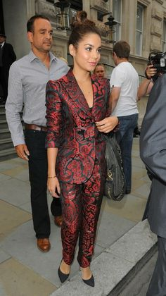 Vanessa Hudgens. in my opinion: worst suit. she could do better