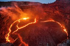 Most active volcano region in the world