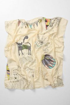 Zoological Gala Scarf #anthropologie