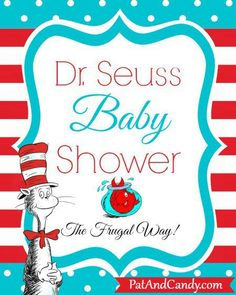 Throw a Dr. Seuss Baby Shower {On a Budget} – From invites to menus to games and decor, you'll find some great ideas for throwing a Dr Seuss Baby Shower on a Budget! Baby Shower Food Menu, Budget Baby Shower, Baby Shower Signs, Baby Shower Printables, Baby Shower Themes, Shower Ideas, Dr Suess Baby, Dr Seuss Baby Shower, Baby Shower Winter