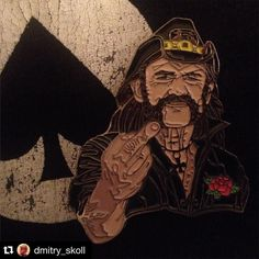 """#Repost  @dmitry_skoll with @repostapp.  Behold the King. The King of Kings.  Metal Pin """"Lemmy Kilmister"""" from the """"Pin take factory"""" can be ordered here: http://ift.tt/1OwugOX Link in the biography. Заказ в Москве через direct. #pin #pins #icon #icons #metal_enamel_pin #pin_take  #Lemmy #lemmykilmister #motorhead #real_hero #rip #pintake by metal_enamel_pin"""