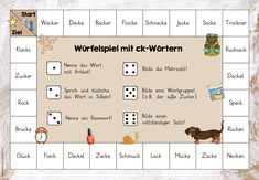 Dice games with special spelling (trip of ideas) - Dice games with spelling peculiarities Today I can once again provide you with a great material tha - Learn German, Learn English, Too Cool For School, Back To School, Motivational Memes, Clever Gadgets, Primary School Teacher, School Motivation, Dice Games