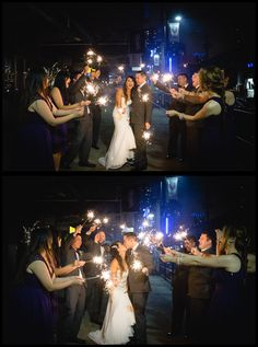 Paraphrase Productions wedding photography / sparklers