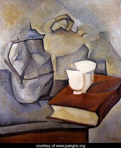 Still Life with Book 1913, Juan Gris