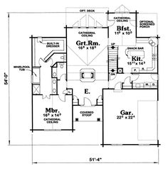 Fireplace house plans