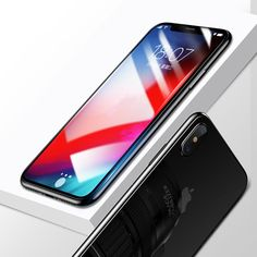 Amzer Kristal Tempered Glass Full Body Protection Screen Coverage and Back Protector for iPhone Xs Max Phone Screen Protector, Tempered Glass Screen Protector, Apple Iphone, Used Mobile Phones, Silicone Adhesive, Glass Film, Glass Material, Iphone Models, Full Body