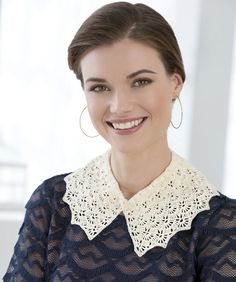 Designer Lace Collar Crochet Pattern  made with Aunt Lydia's Crochet Thread.