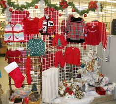 thrift store display ideas | creative display combining clothing and other ... | Thrift Store Ideas