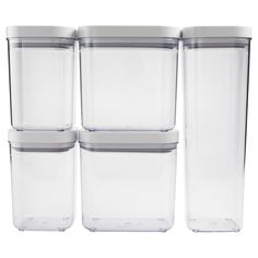 Make your kitchen and dining experience great with the OXO Assorted Food Storage POP Container Set. You can purchase this, and find other affordable Kitchen Canisters & Jars, at your local At Home store. Flour Storage Container, Food Storage Shelves, Airtight Food Storage Containers, Kitchen Pantry Storage, Storage Canisters, Small Bathroom Storage, Pantry Organization, Target Organization, Storage Ideas