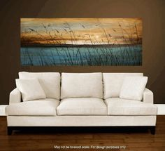 Art painting, canvas art, landscape painting,turquoise , blue, brown, white…