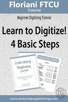 Learn to digitize embroidery designs with Floriani FTCU. Step by step written tu… Learn to digitize embroidery designs with Floriani FTCU. Step by step written tutorials, photos and free PDF Machine Embroidery Projects, Embroidery Software, Embroidery Transfers, Embroidery Supplies, Learn Embroidery, Embroidery Techniques, Embroidery Ideas, Embroidery Tattoo, Machine Embroidery Applique