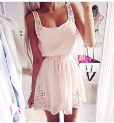 Pink sugar colored cute dress #alldressedup OAKLEY $24.99 http://www.okglasseslove.com