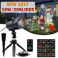 Christmas Projector Lights Slides and Remote Control Waterproof Landscape LED Protection Lamp for Halloween Easter Birthday Wedding Party Decorations by FONLLAM *** You can find more details by visiting the image link. (This is an affiliate link) Christmas Projector, Christmas Lamp, Valentines Day Decorations, Outdoor Christmas Decorations, Holiday Lights, Christmas Lights, Spotlight Lamp, Indoor String Lights, Different Holidays