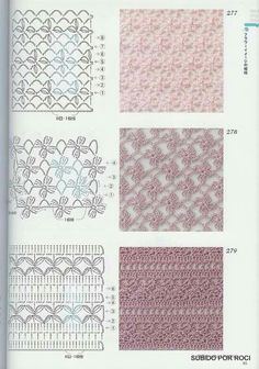 Very useful stitch symbol pack for every crochet l Crochet Stitches Chart, Crochet Motifs, Crochet Diagram, Knitting Stitches, Knitting Patterns, Crochet Patterns, Crochet Flowers, Crochet Lace, Gilet Crochet