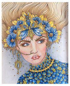 Magical Dawn by Hanna Karlzon #magicaldawn #magicaldawncoloringbook #magiskgryning #hannakarlzon #fabercastell #polychromos #colorist #coloringbook #coloringbookforadults #adultcoloringbook #arte_e_colorir #artecomoterapia #antistress #coloring_masterpieces #coloring_secrets #coloring_repost #bayan_boyan #wonderfulcoloring #mycreativespace #coloring