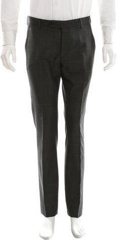 Dior Homme Wool Windowpane Pants Mens Dress Pants, Christian Dior, Sweatpants, Wool, Stylish, Fashion, Moda, Fashion Styles, Fashion Illustrations
